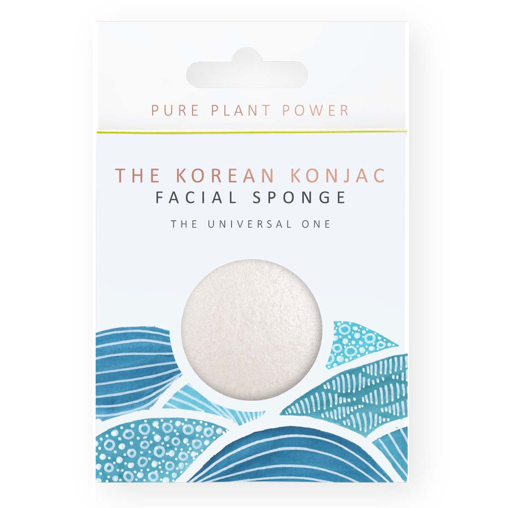 THE KOREAN KONJAC SPONGE - Facial Konjac Sponge - White Konjac