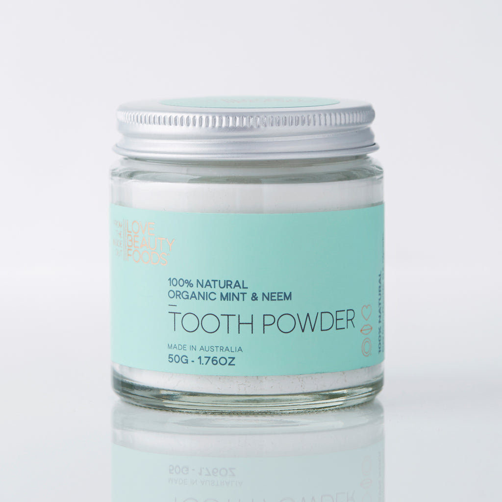 LOVE BEAUTY FOOD - Organic Mint & Neem Natural Toothpowder