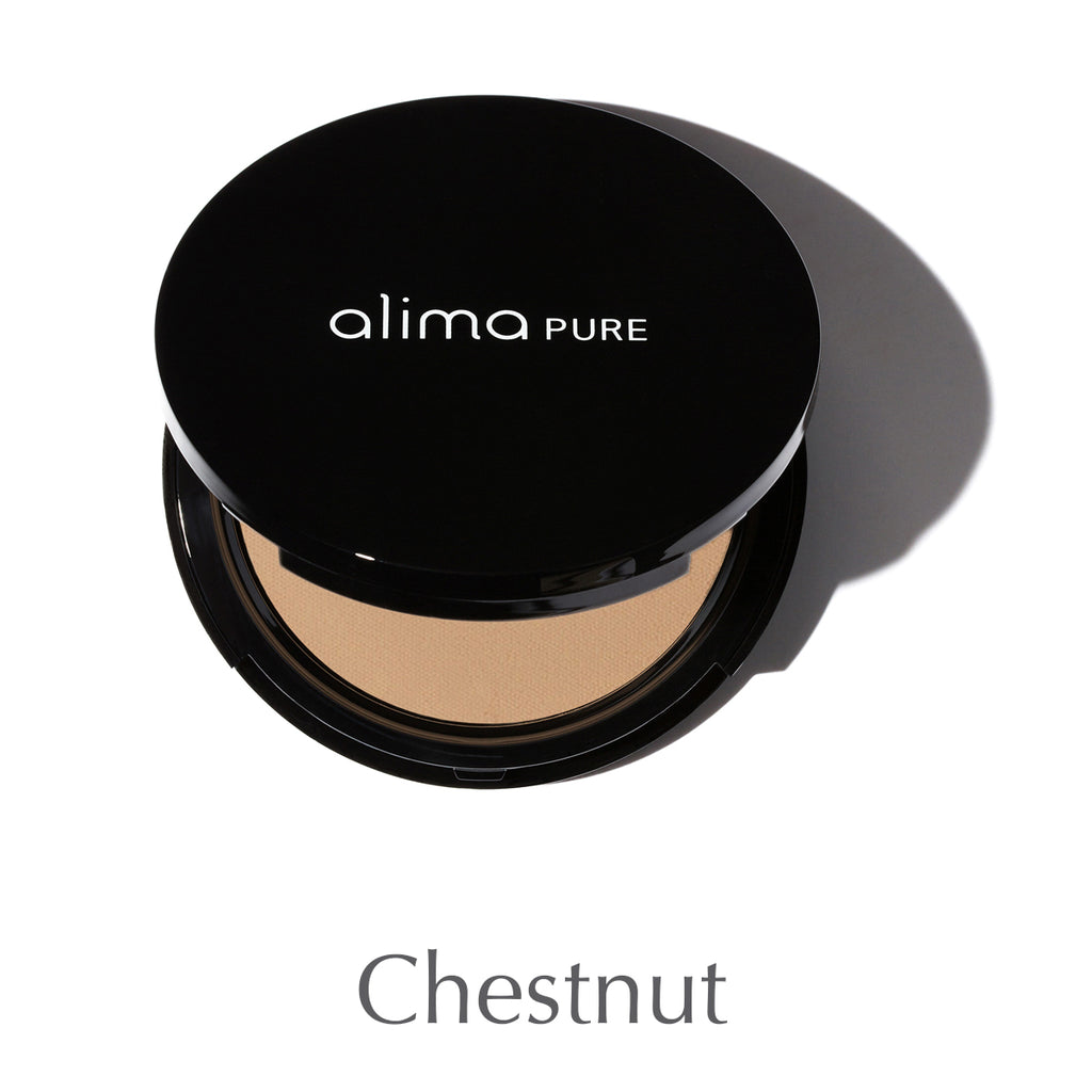 ALIMA PURE - Pressed Foundation with Rosehip Antioxidant Complex - Chestnut