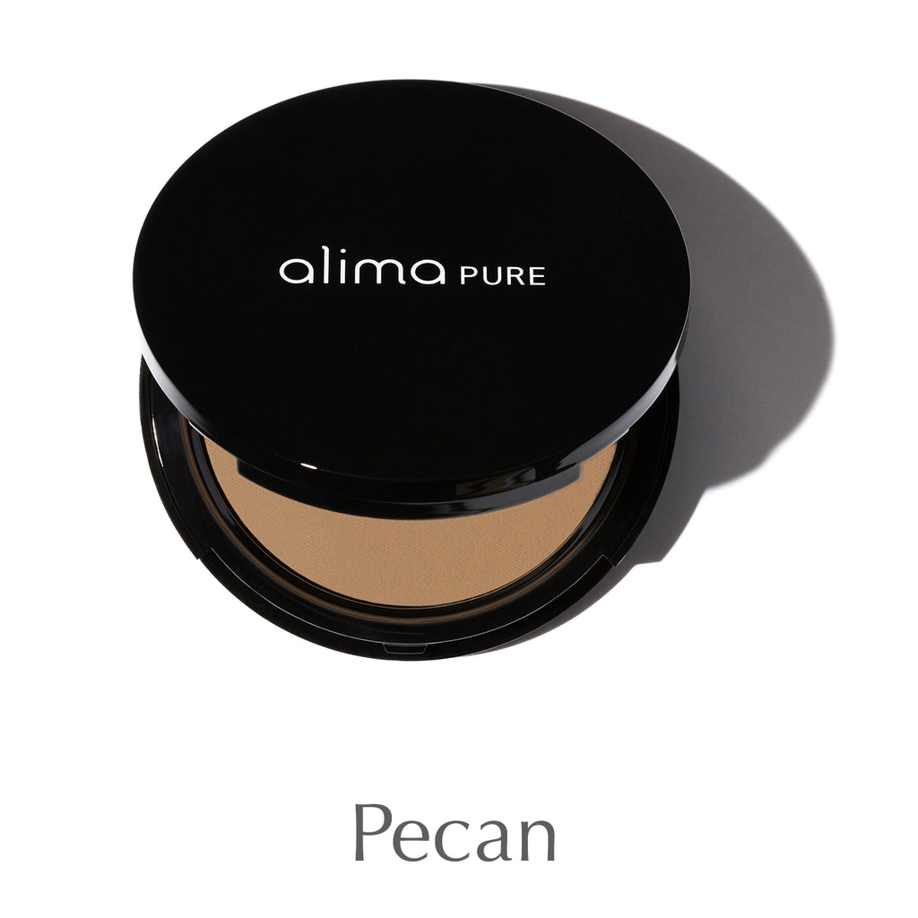 ALIMA PURE - Pressed Foundation with Rosehip Antioxidant Complex - Pecan
