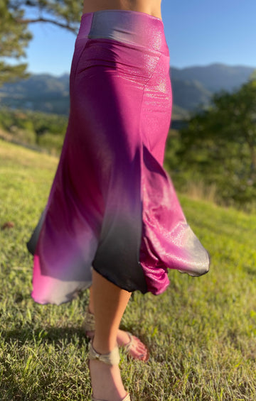 Bella Long Skirt 'Ombré Fuchsia'