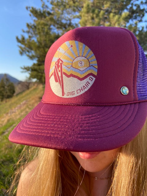 Big Chair 9 Trucker Hat 'Burgundy/Grape'