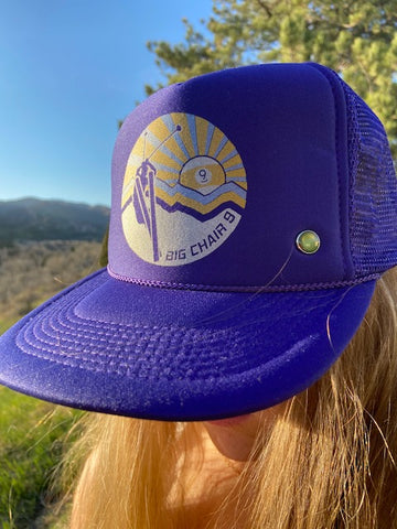 Big Chair 9 Trucker Hat 'Grape'