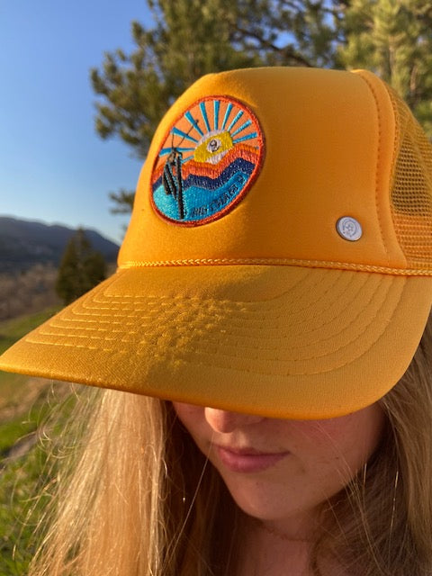 Big Chair 9 Patch Trucker Hat 'Yellow'