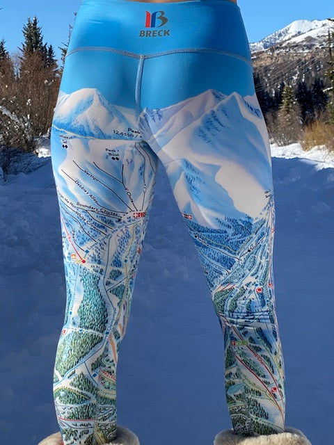 BRECKENRIDGE Ski Trail Map Leggings by MOUNTAIN LEGS