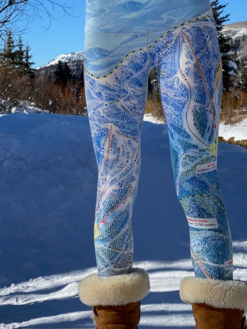 HEAVENLY Ski Trail Map Leggings by MOUNTAIN LEGS