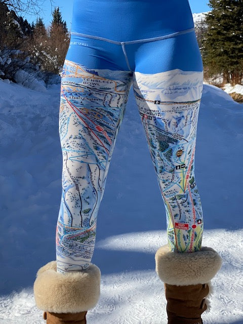 JACKSON HOLE Ski Trail Map Leggings by MOUNTAIN LEGS