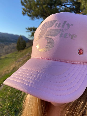 July Five Star Trucker Hat 'Baby Pink'