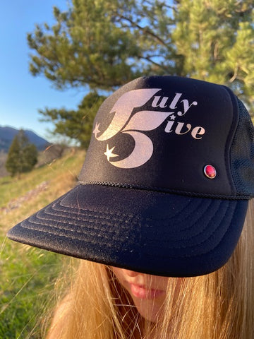 July Five Star Trucker Hat 'Black'