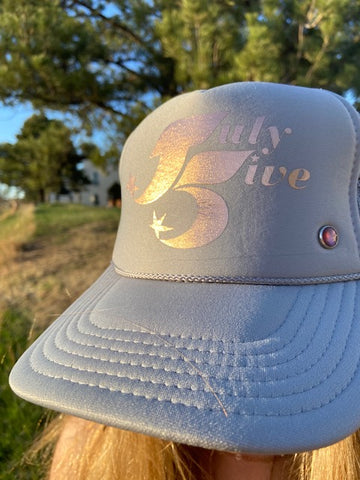 July Five Star Trucker Hat 'Stone'