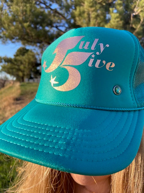 July Five Star Trucker Hat 'Turquoise'