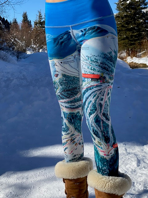 KEYSTONE Ski Trail Map Leggings by MOUNTAIN LEGS