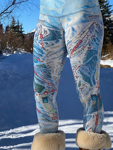 PARK CITY Ski Trail Map Leggings by MOUNTAIN LEGS