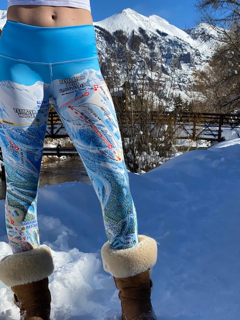 TELLURIDE Ski Trail Map Legging by MOUNTAIN LEGS