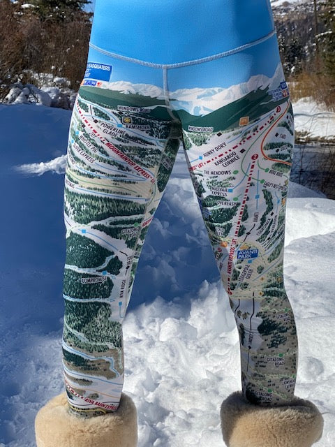 VAIL Ski Trail Map Leggings by MOUNTAIN LEGS
