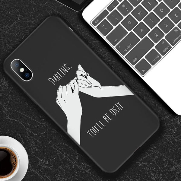 iPhone Art Abstract Lines Silicone Cases - Mixdias