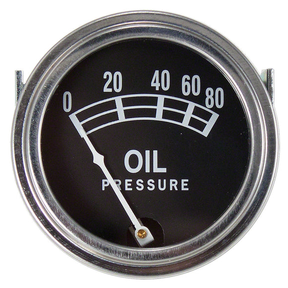 Universal Oil Pressure Gauge (0 - 80 PSI) - Bubs Tractor Parts