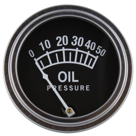Universal Oil Pressure Gauge (0 - 50 PSI) - Bubs Tractor Parts