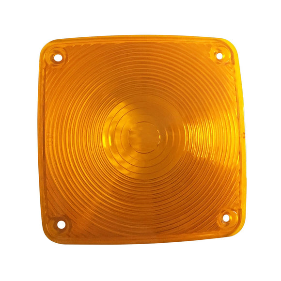Rectangular amber lens only for ABC4098 warning light - Bubs Tractor Parts