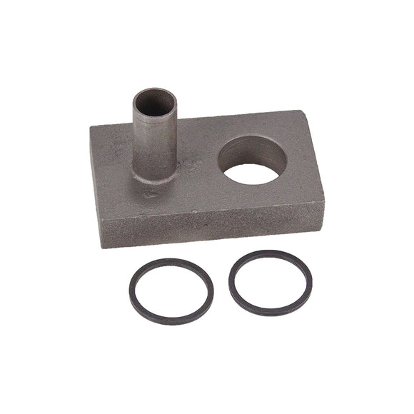 POWER STEERING PUMP PORT BLOCK WITH (2) O-RINGS - Bubs Tractor Parts