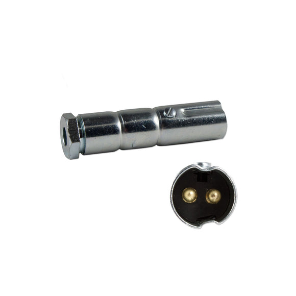 AUXILIARY MALE 2 PIN CONNECTOR PLUG - Bubs Tractor Parts