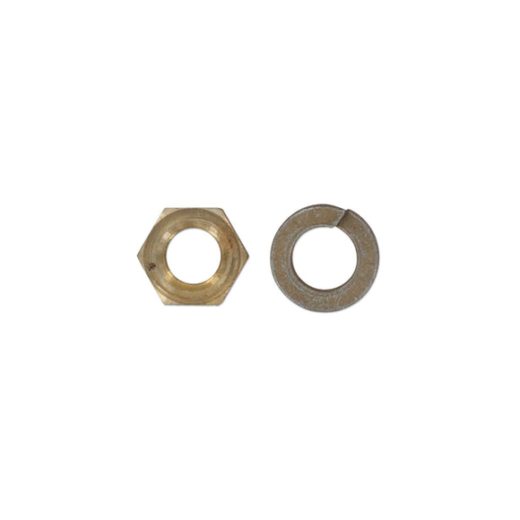 Brass Manifold Nut And Lockwasher - Bubs Tractor Parts