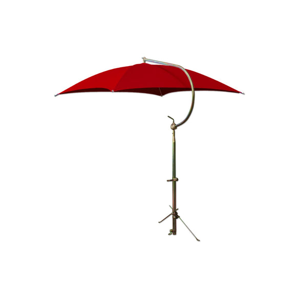Deluxe Red Umbrella with Brackets - Bubs Tractor Parts