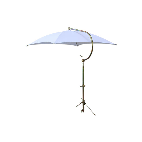 White Deluxe Umbrella w/ Brackets
