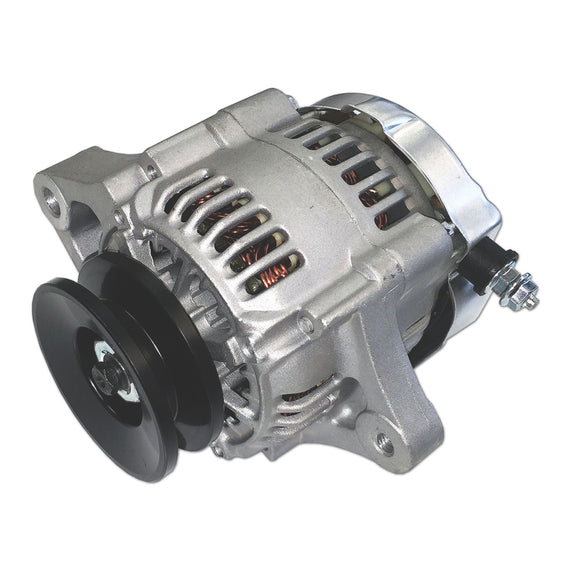 Mini 35 Amp 12-V Negative Ground Alternator with Pulley - Bubs Tractor Parts