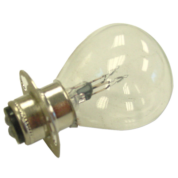 6 volt double contact light Bulb with ring - Bubs Tractor Parts