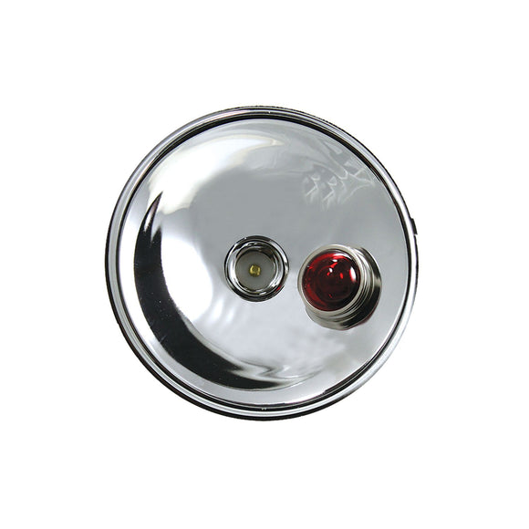 Reflector (For tail lights w/ red jewel lens & 12-volt bulb in jewel lens)
