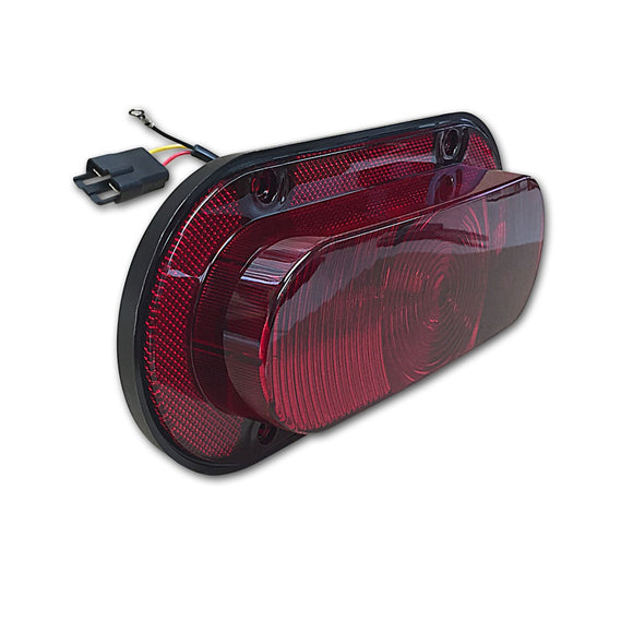 LED Tail/Warning Light with Red Lens - Bubs Tractor Parts