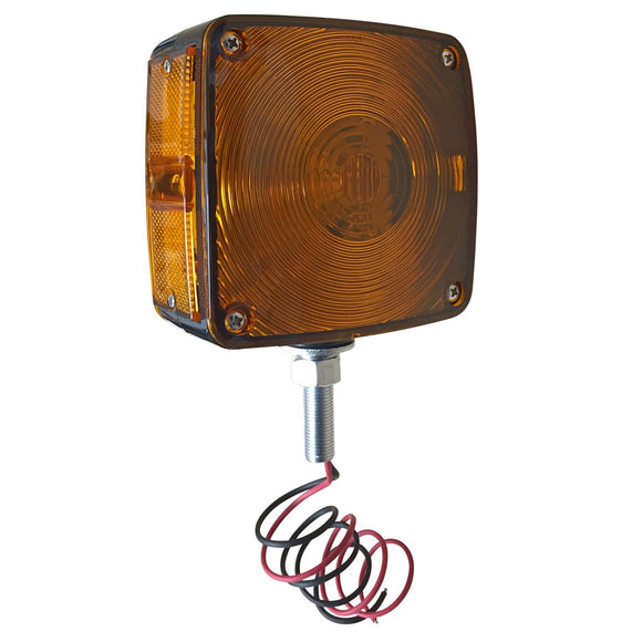 12-volt LED Fender & Cab Mount Warning Light w/ amber / amber lenses