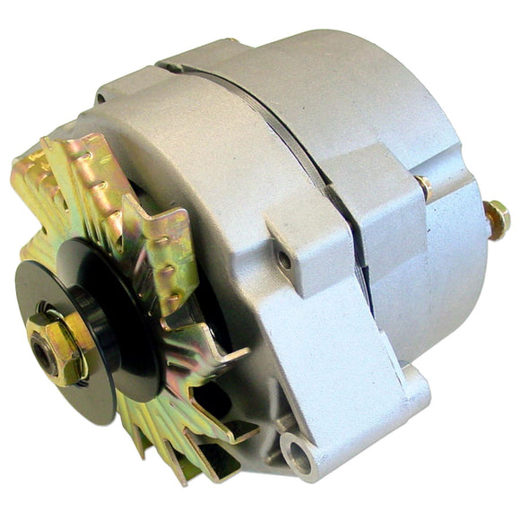 63 Amp One Wire Alternator With Pulley -- Used For Converting 6 Volt To 12 Volt - Bubs Tractor Parts