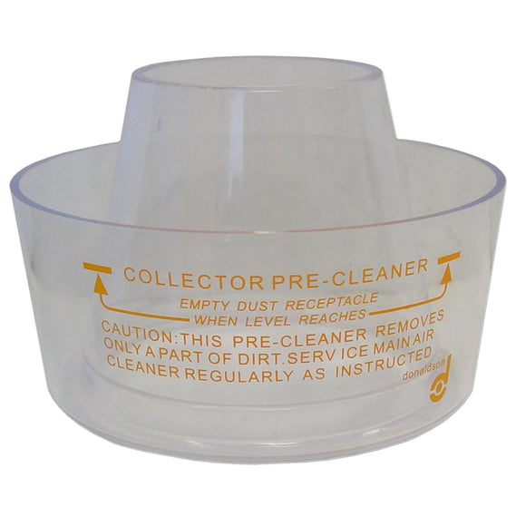 Small Pre-Cleaner Bowl (Clear Plastic) - Bubs Tractor Parts