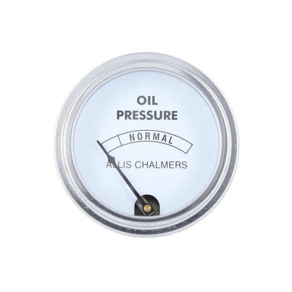 Oil Pressure Gauge, White Face (0-30 PSI) - Bubs Tractor Parts