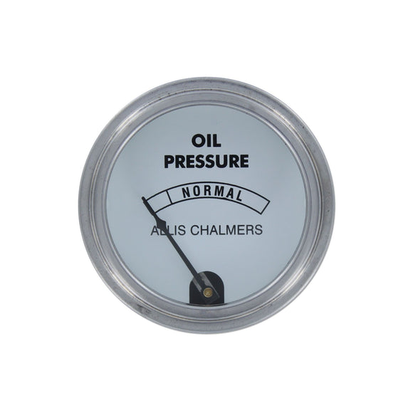 Oil Pressure Gauge, White Face (0-45 PSI) - Bubs Tractor Parts