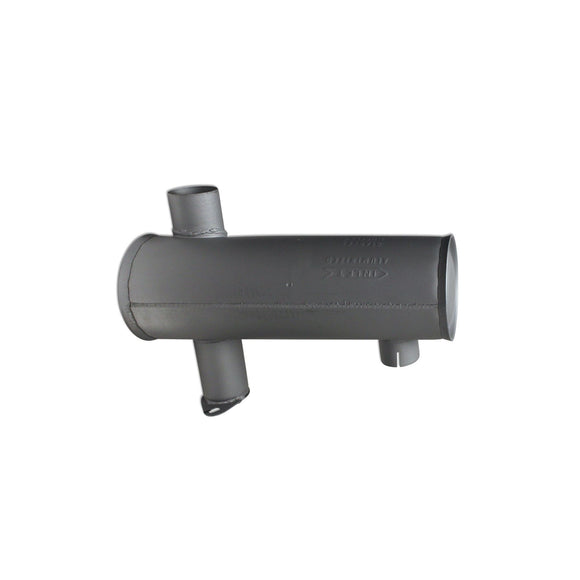 Horizontal Round Body Muffler (Under Hood) - Bubs Tractor Parts