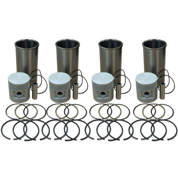 Sleeve and Piston Kit (4-cylinder) - Bubs Tractor Parts