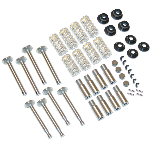 Valve Train Kit Includes New Valves, Guides, Springs And Locks - Bubs Tractor Parts