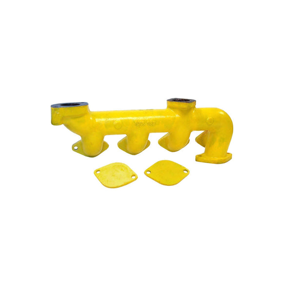 Case Exhaust Manifold (Includes 2 Plates) For Case 430, 530 630 & Many More! - Bubs Tractor Parts
