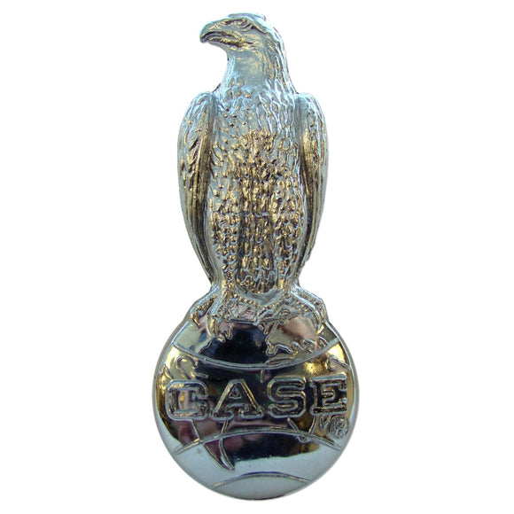 Chrome Case Eagle Emblem - Bubs Tractor Parts