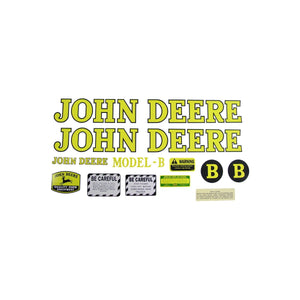 JD B 1939-46: Mylar Decal Set - Bubs Tractor Parts