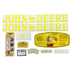 JD D 1923-38: Mylar Decal Set - Bubs Tractor Parts