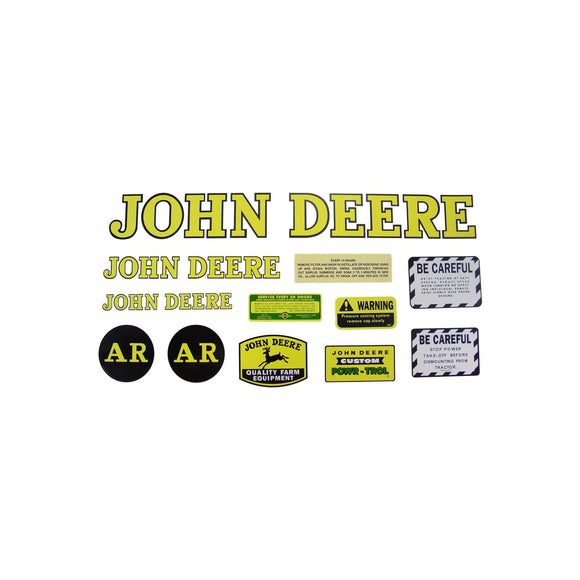 JD AR 1947-52: Mylar Decal Set - Bubs Tractor Parts