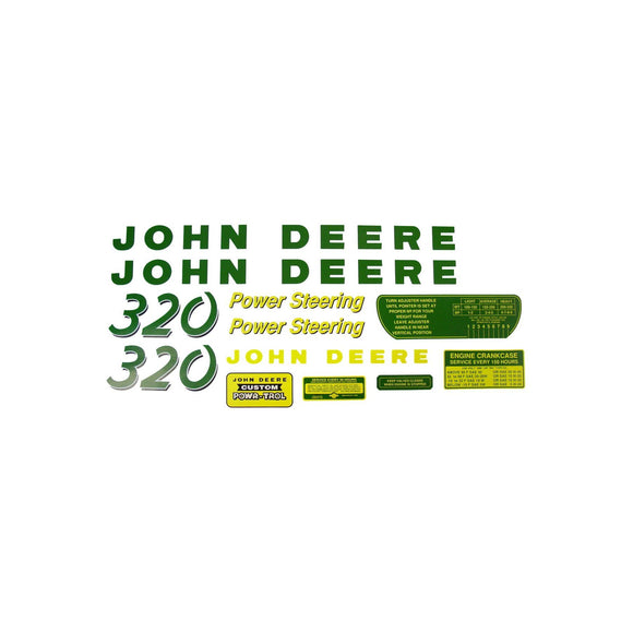 JD 320: Mylar Decal Set - Bubs Tractor Parts