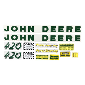 JD 420: Mylar Decal Set - Bubs Tractor Parts