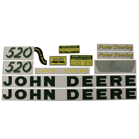 JD 520: Mylar Decal Set - Bubs Tractor Parts