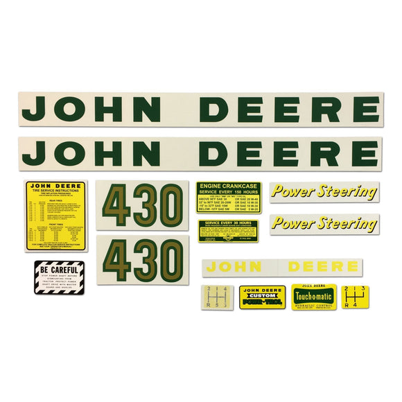 JD 430: Mylar Decal Set - Bubs Tractor Parts