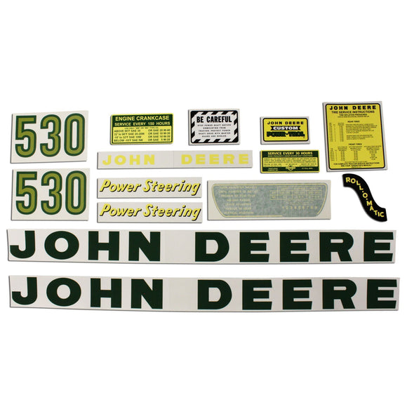 JD 530: Mylar Decal Set